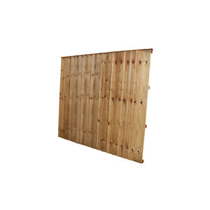 Tanalised Feather Edge Fence Panel 6x5 (1830mm x 1525mm)