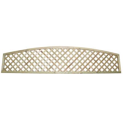 Tanalised Arched Top Diamond Trellis 6x1 (1800mm x 300mm)