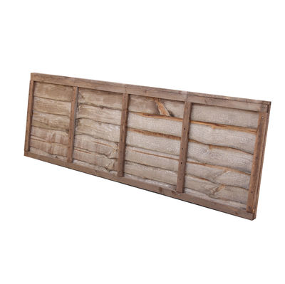 Treated Waney Lap Fence Panel 6x2 (1830mm x 610mm)