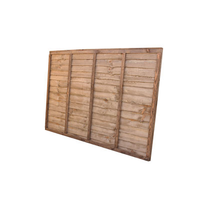 Treated Waney Lap Fence Panel 6x4 (1830mm x 1220mm)