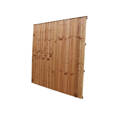 Tanalised Feather Edge Fence Panel 6x6 (1830mm x 1830mm)