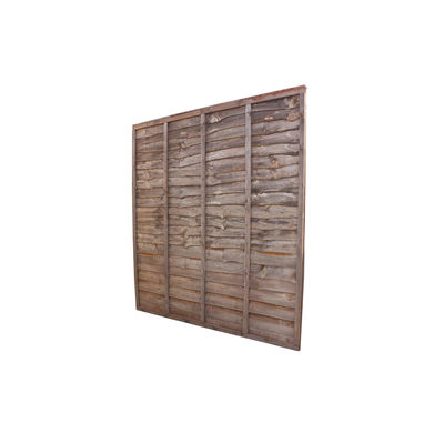 Treated Waney Lap Fence Panel 6x6 (1830mm x 1830mm)