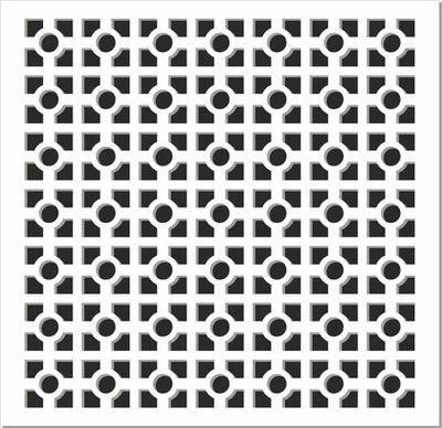Perfonet White Arizona Perforated Panels - Perforated MDF Panels